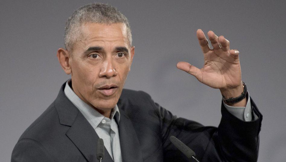 """Der frühere US-Präsident Barack Obama: In Trumps Reaktionen spiegele ich eine Denkweise des """"Zum Teufel mit allen anderen"""" wieder"""