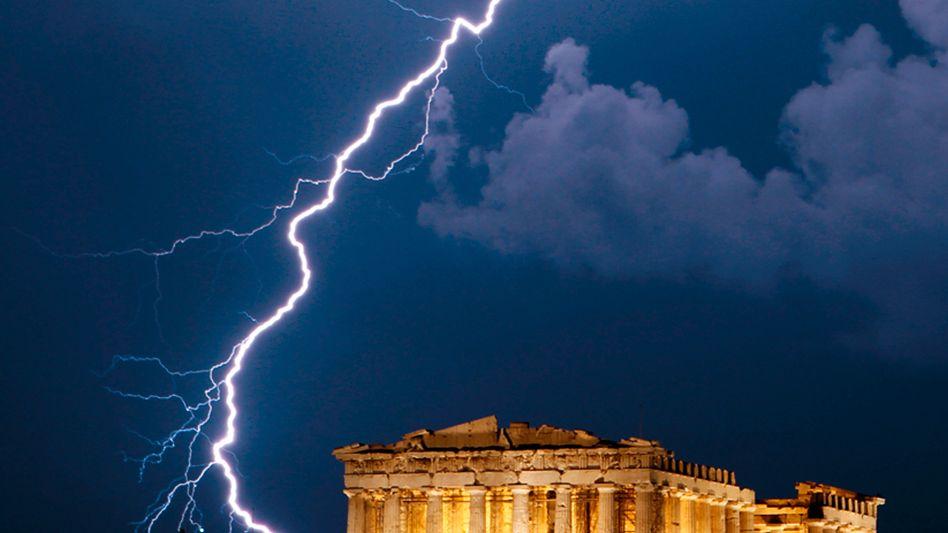 Akropolis in Athen: Defizit im Staatshaushalt um mehr als 15 Prozent gestiegen