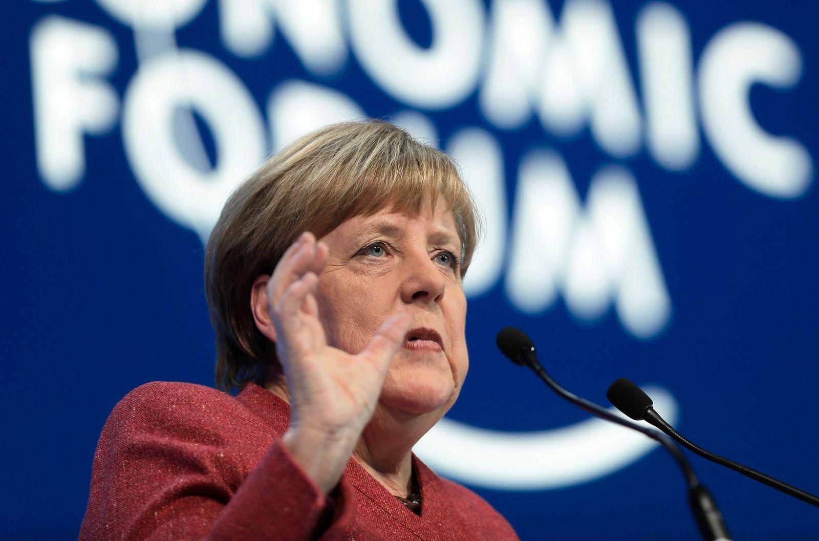 Davos / Merkel / WEF