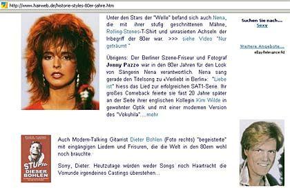 """Abgründe der Abschneider: Historie auf """"Hairweb.de"""""""