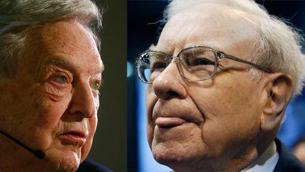 Anlageikonen: Hedgefondsmanager George Soros und Warren Buffett gehen auf Konfrontationskurs an der Börse. Buffett trennt sich von Exxon-Aktien, Soros greift zu.