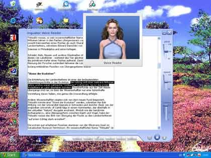 Digitale Sprecherin: Bei der Software Virtual Voice lesen Lara oder Julia die Texte vor