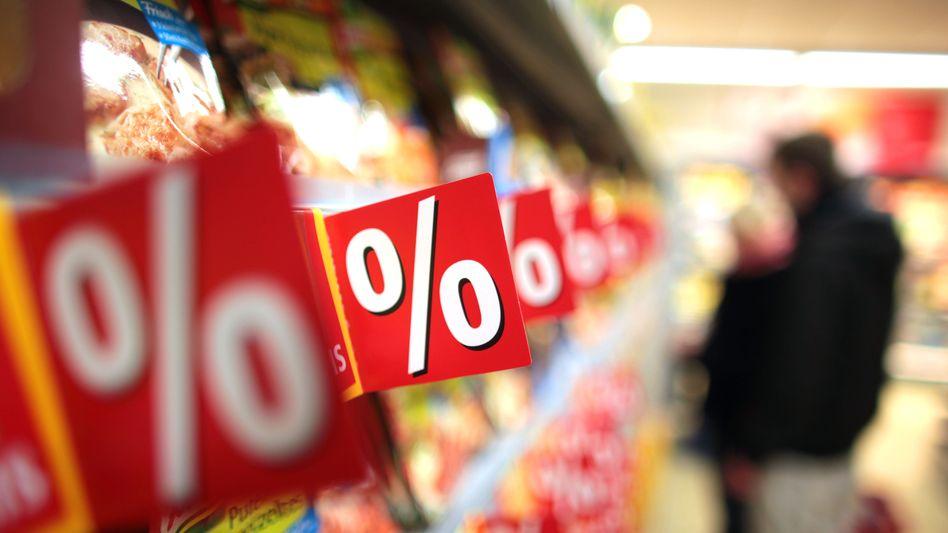 Supermarkt: Lebensmittel haben sich laut Eurostat binnen Jahresfrist um 2,2 Prozent verteuert