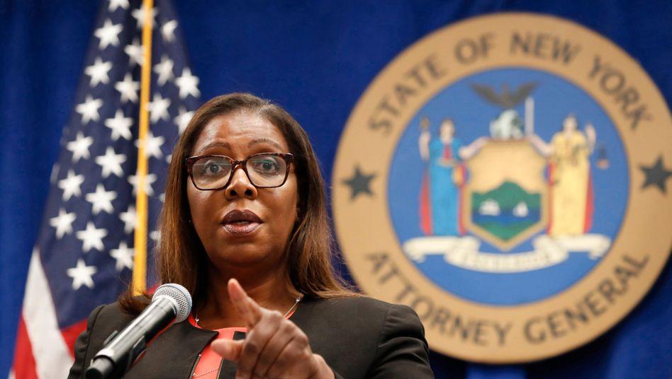 Ein Fall für die Staatsanwaltschaft: New Yorks Generalstaatsanwältin Letitia James will ermitteln, ob die Handelsrestriktionen der Onlinebroker gerechtfertigt waren