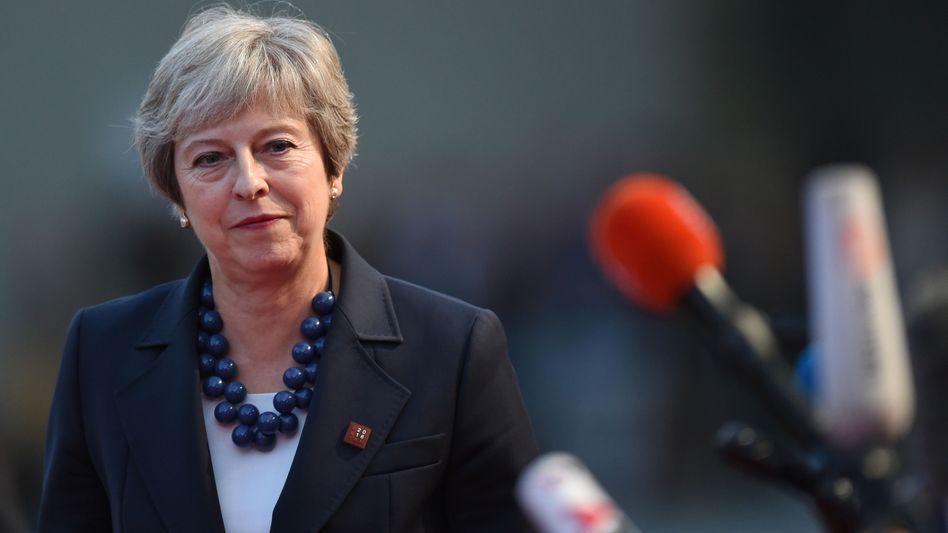 Einsam in Salzburg: Theresa May