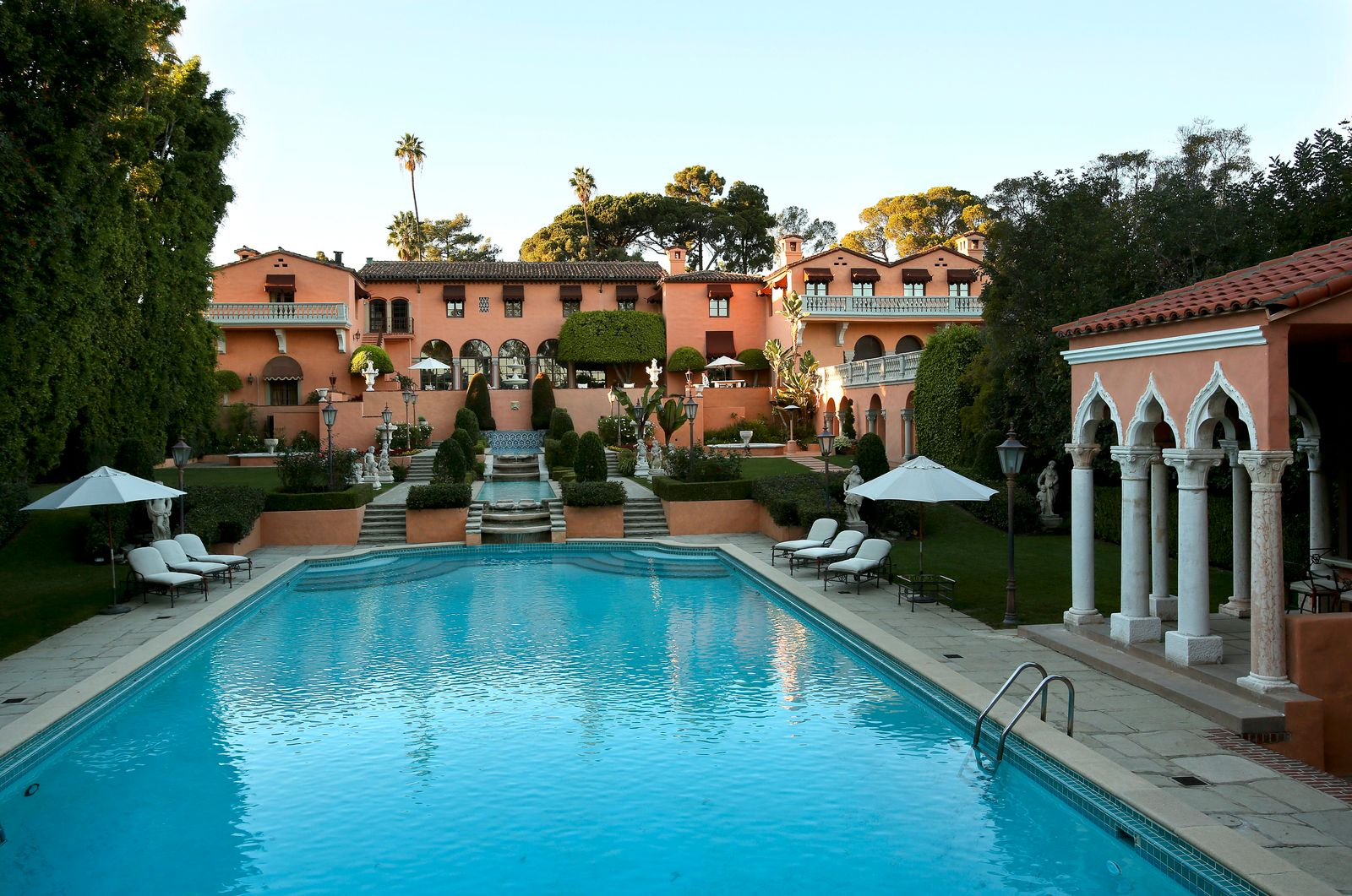 The two-house, five-acre Beverly Hills estate, the onetime residence of newspaper czar William Rando