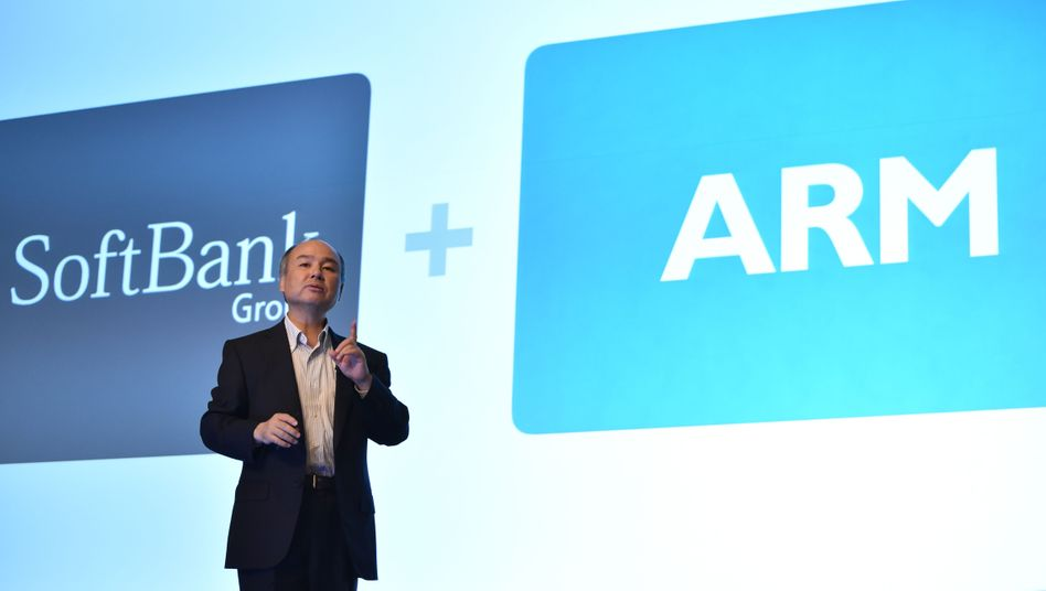 SoftBank-Chef Masayoshi Son freut sich über den 40 Milliarden-Dollar-Deal