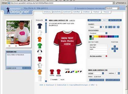 Virtuelle Modeboutique: Jeder kann mit Hilfe von Spreadshirt seinen eigenen Laden im Internet eröffnen