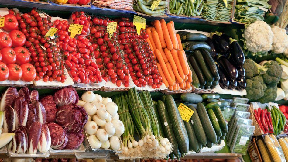 Gemüse wurde zum Ladenhüter: Insgesamt ging der Umsatz im Juni um fast 16 Prozent zurück