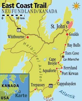 Noch so etwas wie ein Geheimtipp: Der 220 Kilometer lange East Coast Trail reicht von St. John's bis Cappahayden