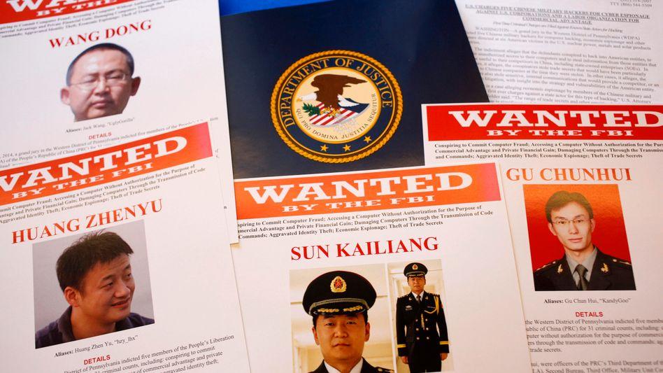 Gesuchte Hacker: Der Spionagestreit zwischen den USA und China gewinnt an Schärfe