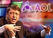 Bill Gates und AOL im Streit um die Vorherrschaft