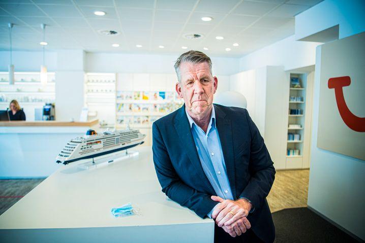 Spaß über Bord: CEO Fritz Joussen sah Tui auf dem Weg zum Digitalchampion. Jetzt droht ein analoges Desaster.