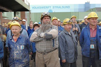 """Werftarbeiter demonstrieren: """"Wir brauchen Arbeit jetzt"""""""
