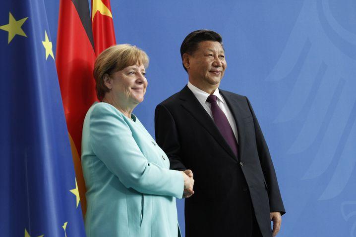 Merkel und Jinping am Mittwoch in Berlin.