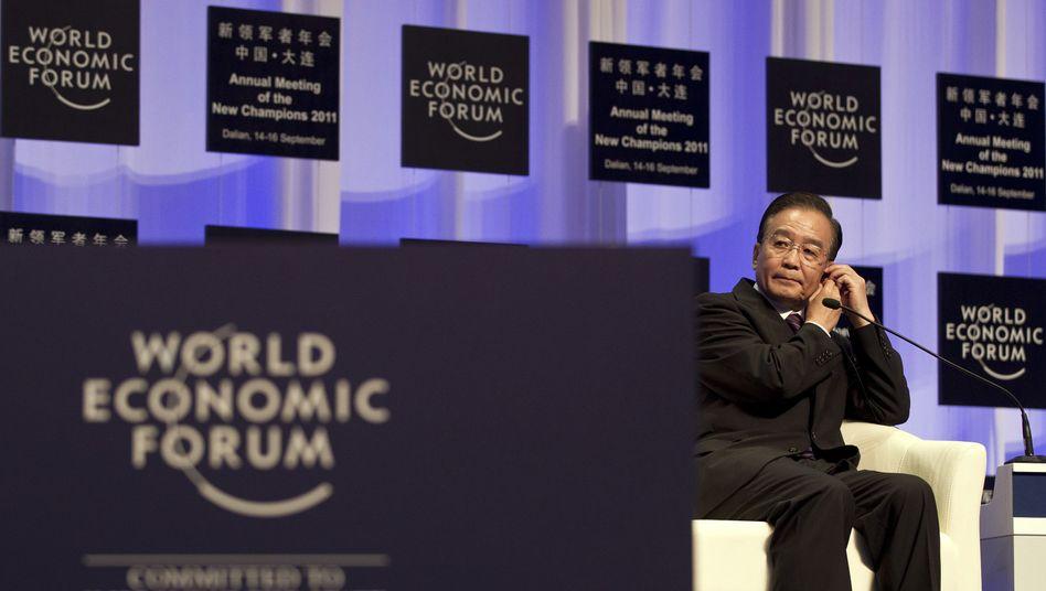 """Chinas Premier Wen Jiabao: """"Helfende Hand"""" - mit Einschränkungen"""