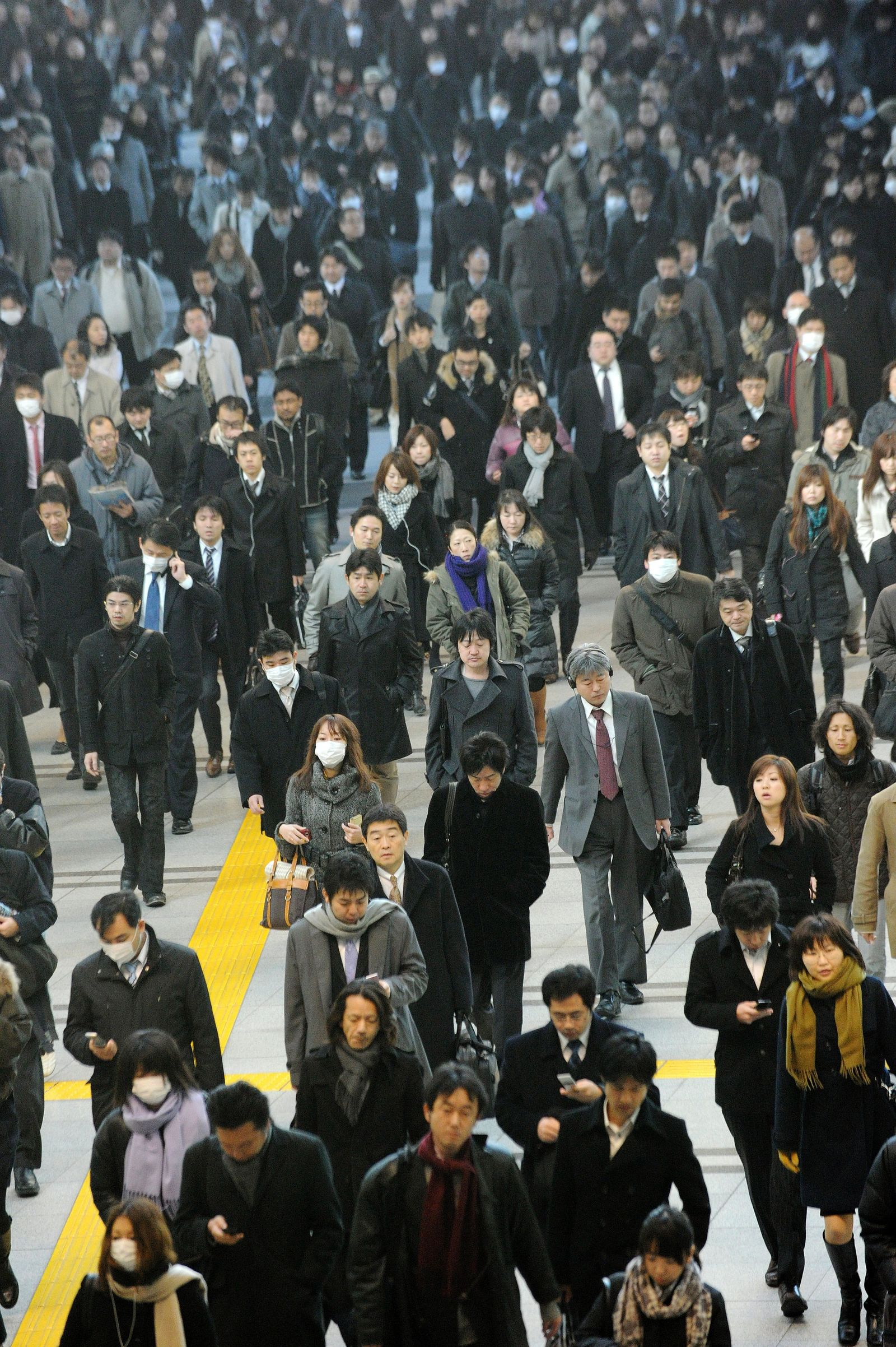 Tokio Menschen Weg zur Arbeit Armut Japan