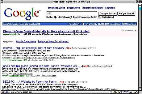 Vorbildhaft bei der Kennzeichnung von Werbung: Der Suchdienst Google