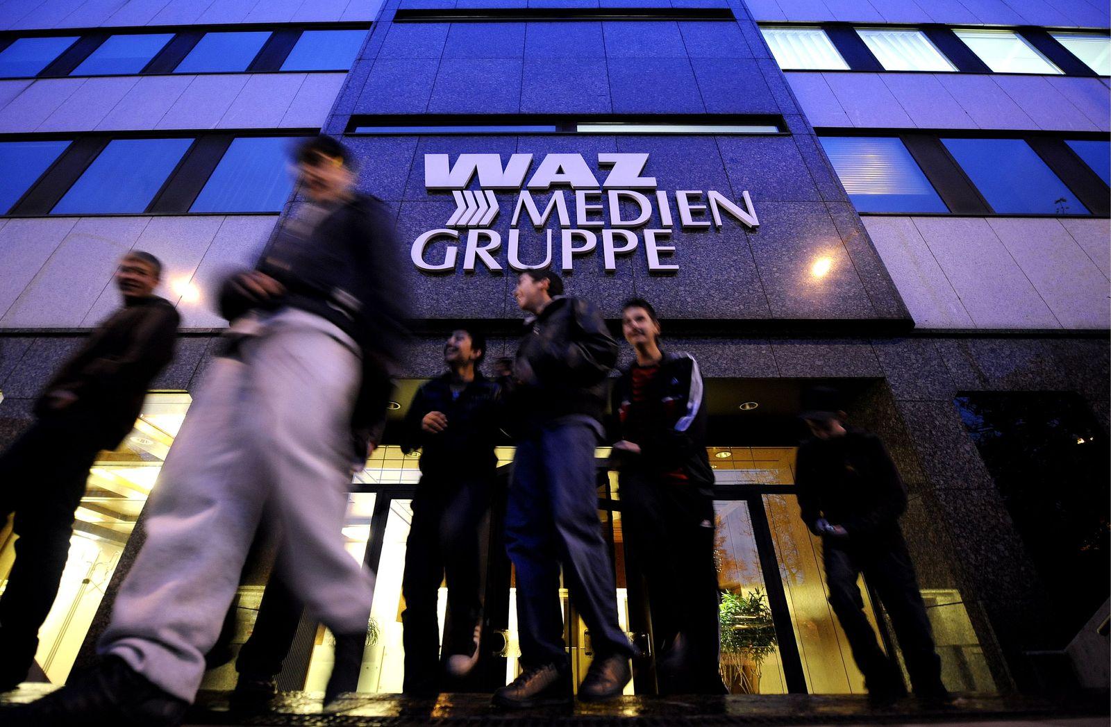 NICHT VERWENDEN NRW Zeitungen der WAZ Mediengruppe eroertern Sparmassnahmen