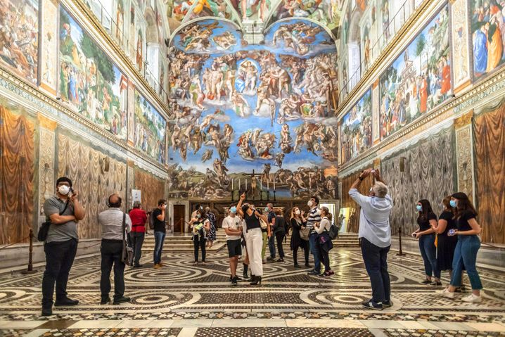 Jüngstes Gericht: Die Sixtinische Kapelle im Vatikan wird immer Touristen anziehen. Nur wie werden sie dahin kommen?