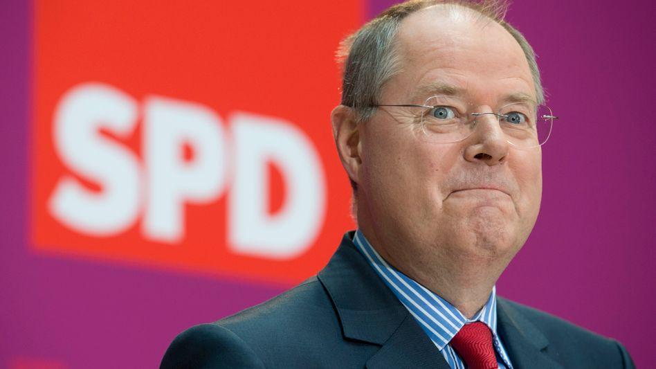 Peer Steinbrück: SPD schickt den Ex-Bundesfinanzminister in das Rennen gegen Kanzlerin Angela Merkel
