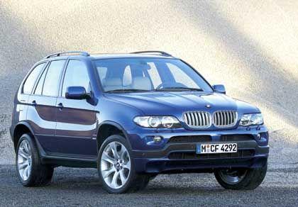 Dick und durstig: Das Trendsegment der Luxus-Offroader - im Bild der BMW X5 - macht nur 5,3 Prozent des Gesamtmarktes aus