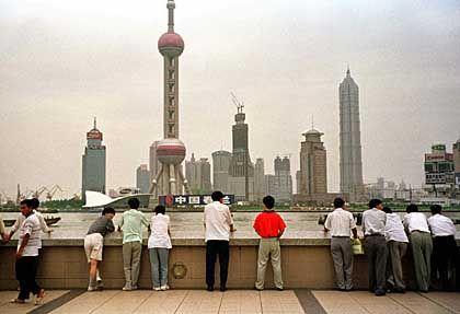 Zeichen eines neuen Aufbruchs? Die Skyline von Shanghai