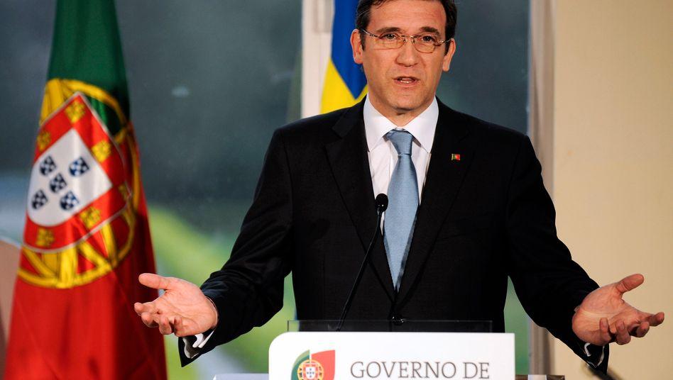 """Portugals Ministerpräsident Pedro Passos Coelho: """"Jetzt zu zögern, würde unsere Glaubwürdigkeit schwächen."""""""