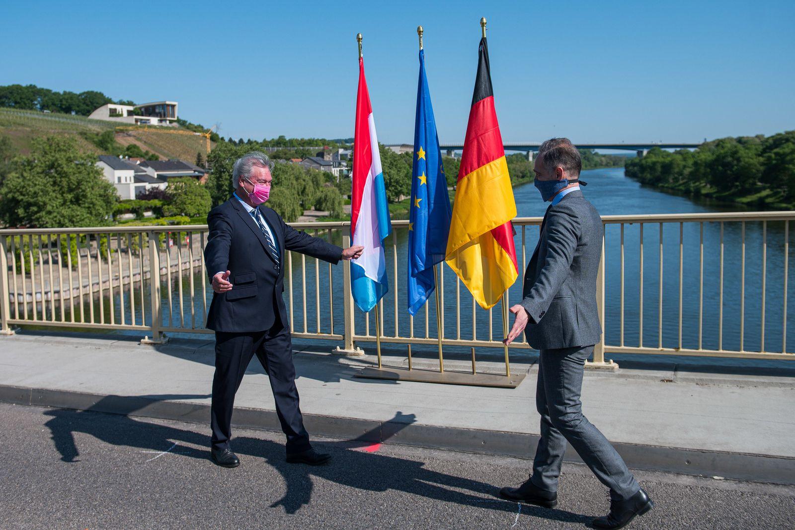 Heiko Maas / Jean Asselborn / Grenzöffnung