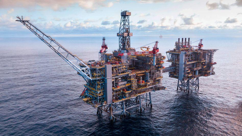 Hohe Wertberichtigungen bei den Reserven: Ölbohrplattform von BP in der Nordsee.