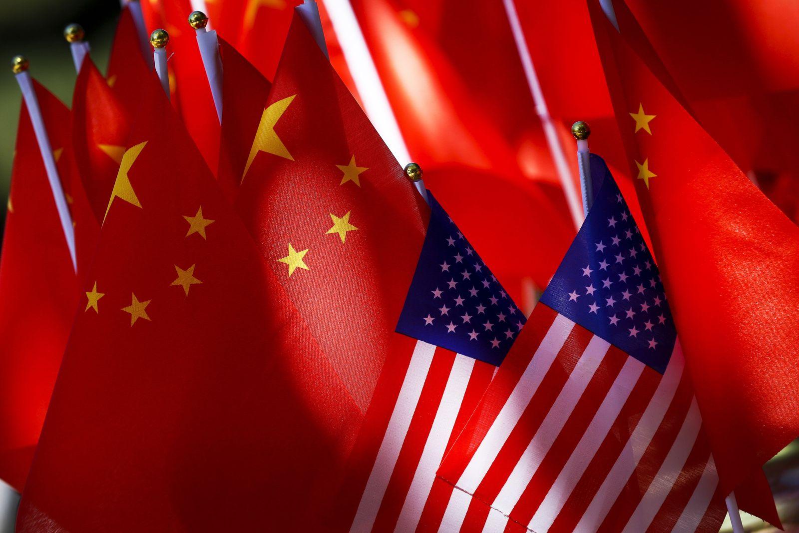 China - USA - Flaggen