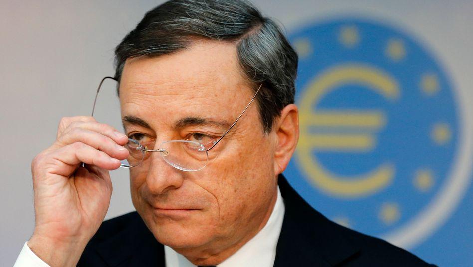 Die Geldpolitik zurechtrücken: EZB-Chef Draghi hat bereits in der vergangenen Woche die Erwartungen auf weitere Lockerung der Geldpolitik geweckt
