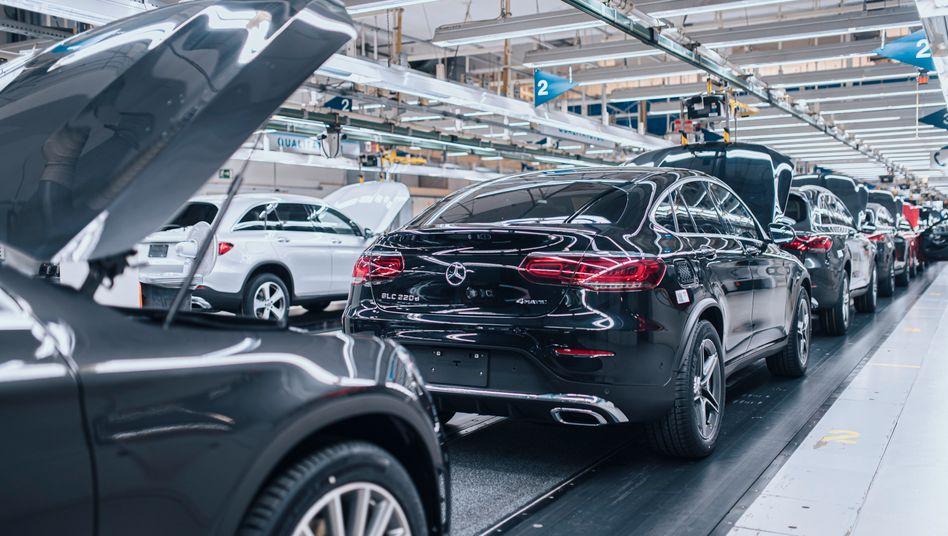 Mercedes-Benz-Werk in Bremen: Die Automobilindustrie war im März das Epizentrum