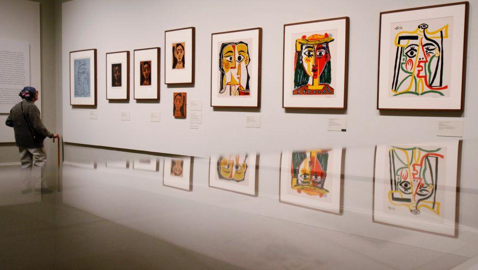 Metropolitan Museum of Art in New York im April 2010: Ausstellung bekannter Werke von Pablo Picasso, eine Vielzahl bisher unbekannter tauchte jetzt auf