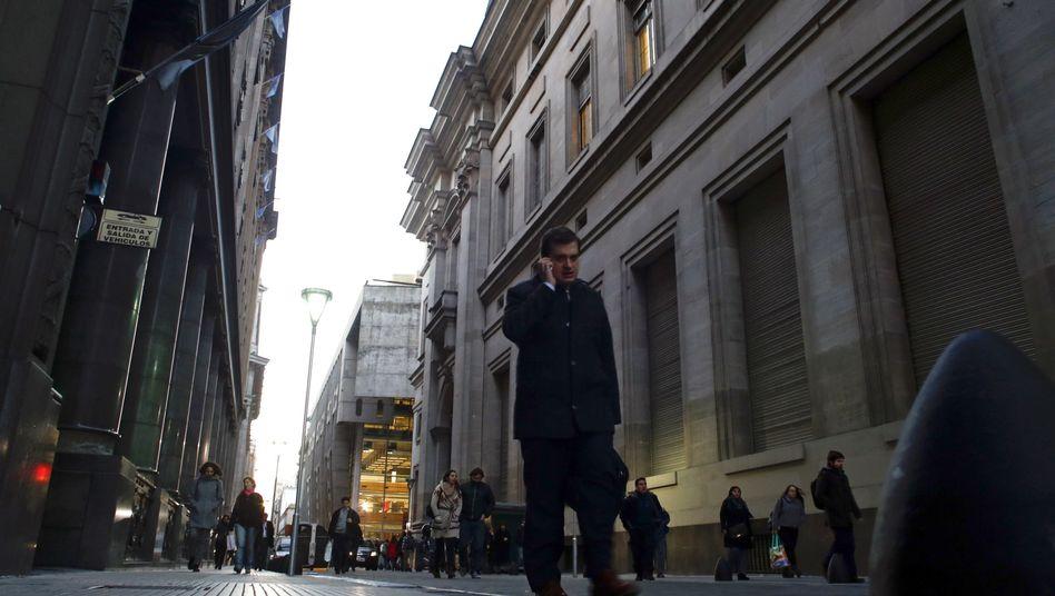 Große Probleme, aber kein Weltuntergang: Straßenszene im Finanzdistrikt von Buenos Aires