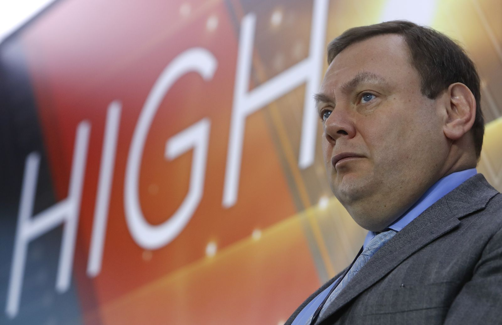 Member of Supervisory Board of ?5 Retail Group Fridman attends a ceremony as ?5 Retail Group starts trading on Moscow Exchange