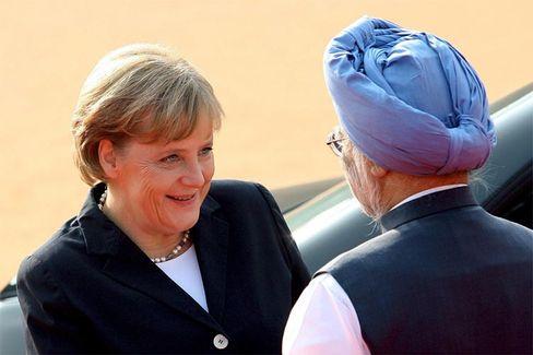 """Kanzlerin Merkel, Indiens Premier Manmohan Singh: """"Partnerschaft intensivieren"""""""