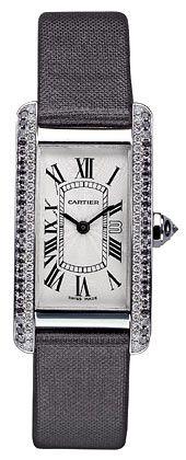 Cartier - Tank Americaine, Weißold mit grauen und weißen Diamanten, Quarzwerk, limitiert auf 50 Stück