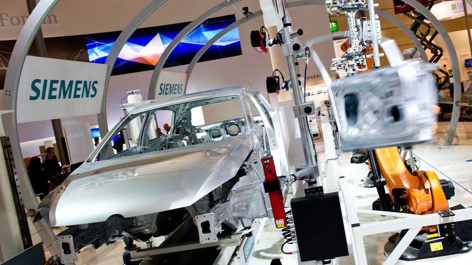 Margenstark: Messestand der Siemens-Sparte Digital Industries