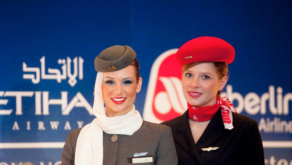 Etihad Airways und Air Berlin: Lange waren sie Partner, dann drehte Großaktionär Etihad den Geldhahn zu und Air Berlin flog in die Pleite