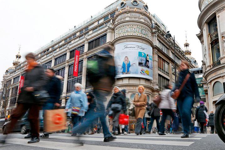 Kaufhaus in Paris: In Frankreich ist das Verbrauchervertrauen auf Depressionsniveau gesunken