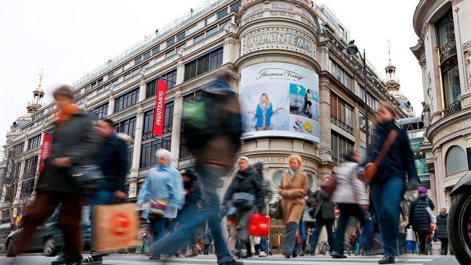 Kaufhaus Printemps in Paris: Viele Franzosen zweifeln am System