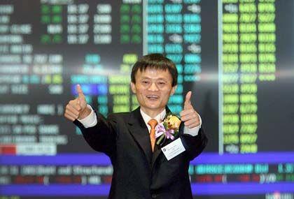 Freude beim Börsengang: Ma gründete Alibaba vor acht Jahren