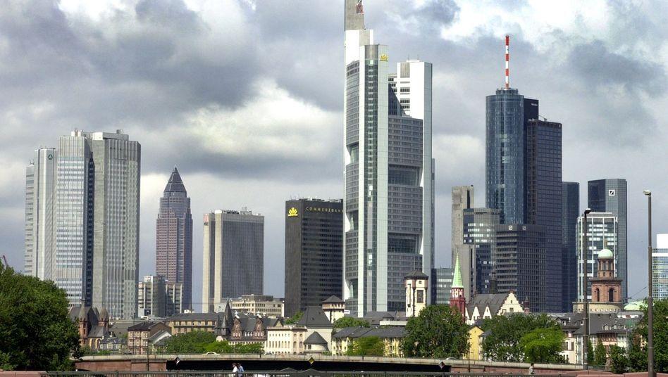 Bankenzentrum Frankfurt: Auch die deutschen Institute wären von einer Pleite Griechenlands betroffen