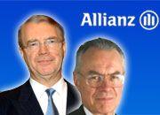 Henning Schulte-Noelle (l.) holte Ihno Schneevoigt in den Allianz-Vorstand