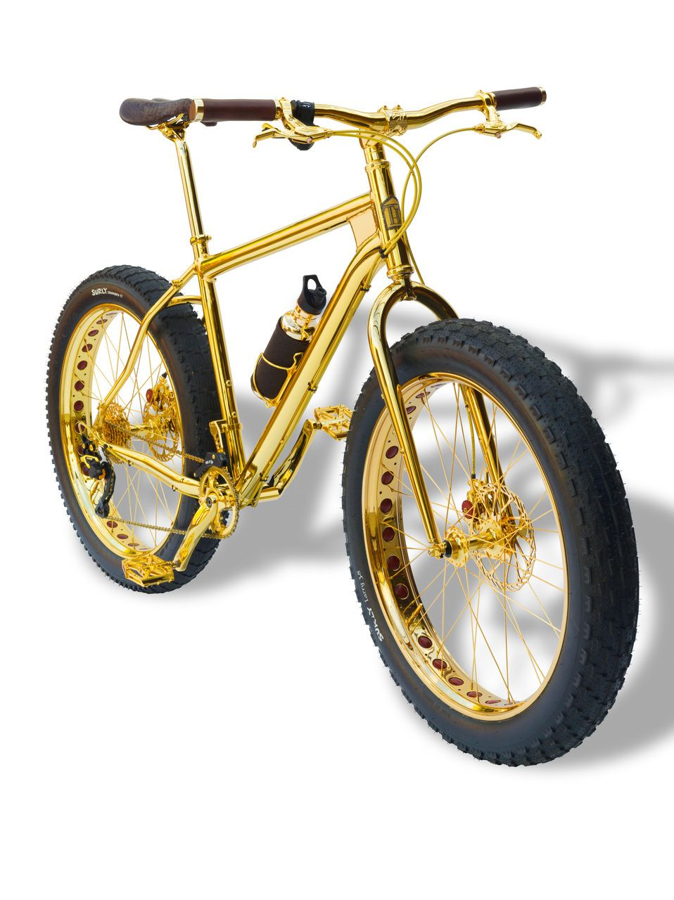 EINMALIGE VERWENDUNG Luxusrad; Hersteller House of solid gold; Fatbike gold