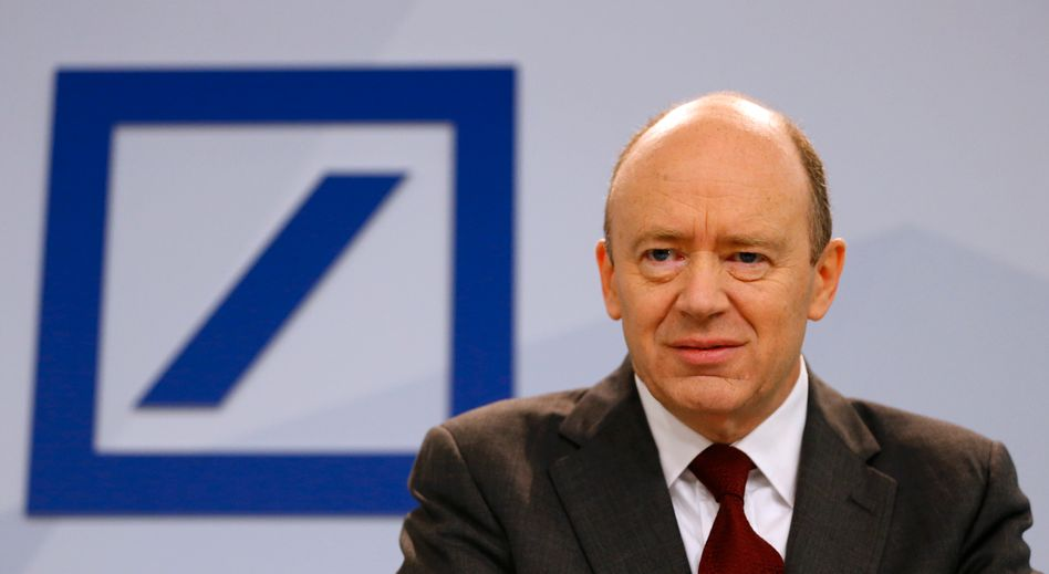 Aufräumer: John Cryan, Chef der Deutschen Bank, tadelt die Bonuskultur
