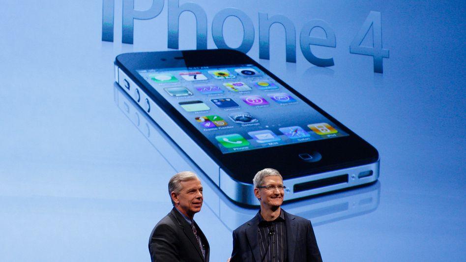 Apple-CEO Tim Cook hat Grund zur Freude