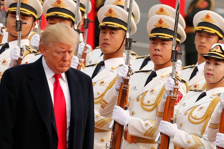 US-Präsident Donald Trump bei der Begrüßungszeremonie in Peking.