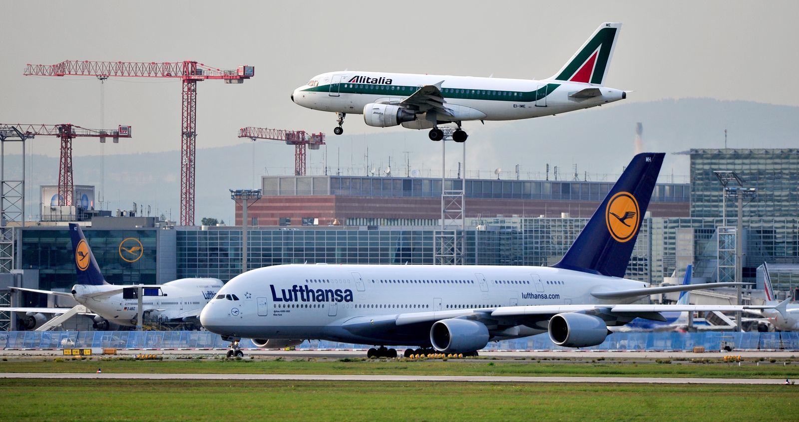 Alitalia und Lufthansa